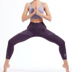 Naadloze 7/8-legging voor dynamische yoga paars