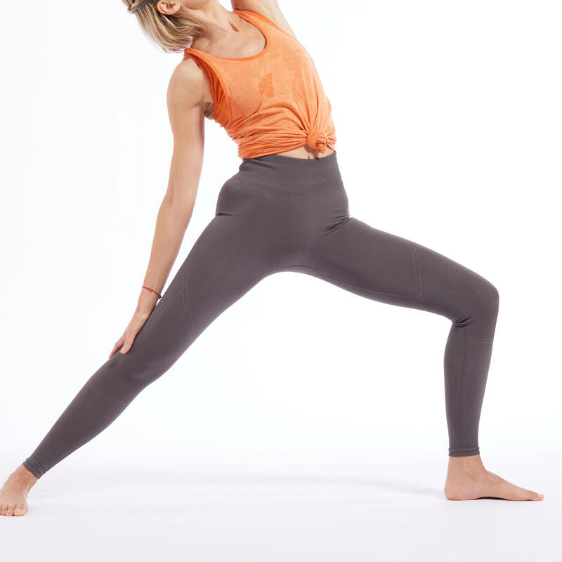 LEGGING LONG YOGA SANS COUTURE GRIS