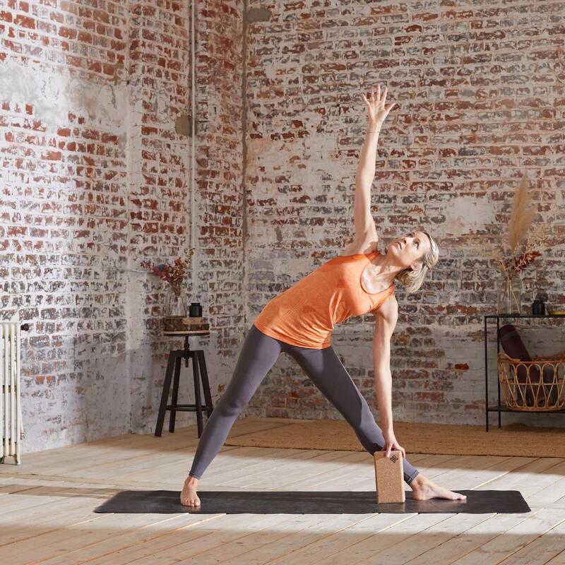 Mallas Leggings Seamless Mujer Yoga Gris Antracita