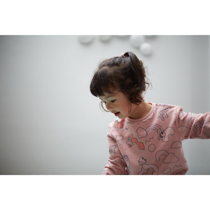 Sudadera Decat'oons estampado rosa de Gimnasia Infantil niños