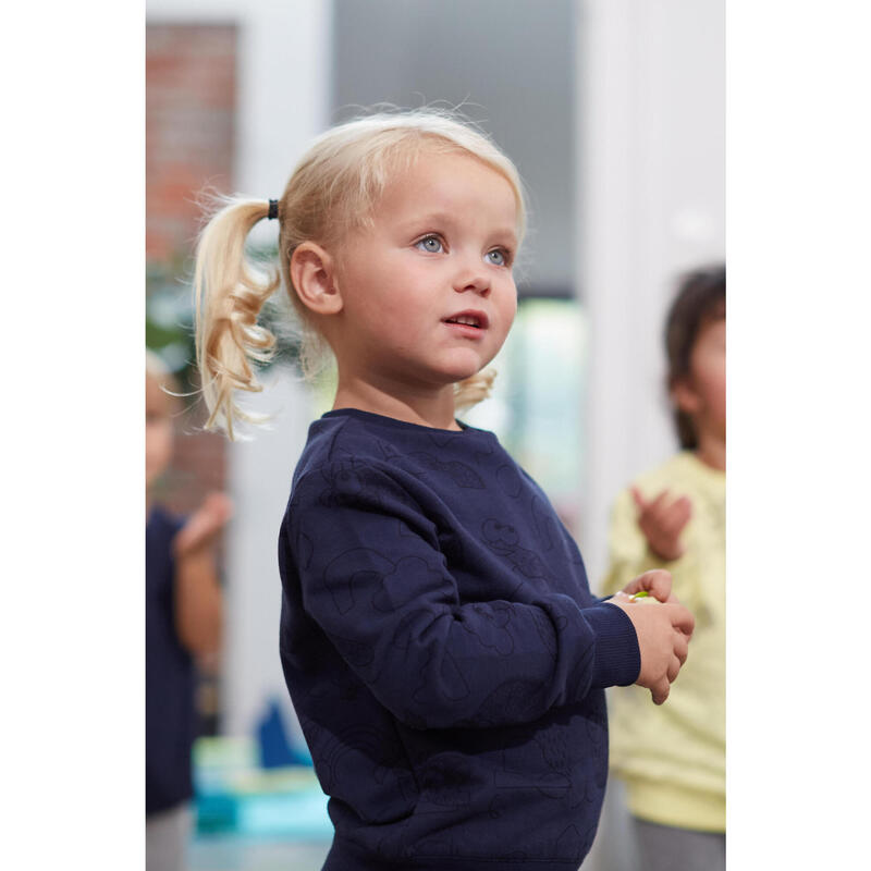 Sudadera Decat'oons estampado azul marino Gimnasia Infantil niños