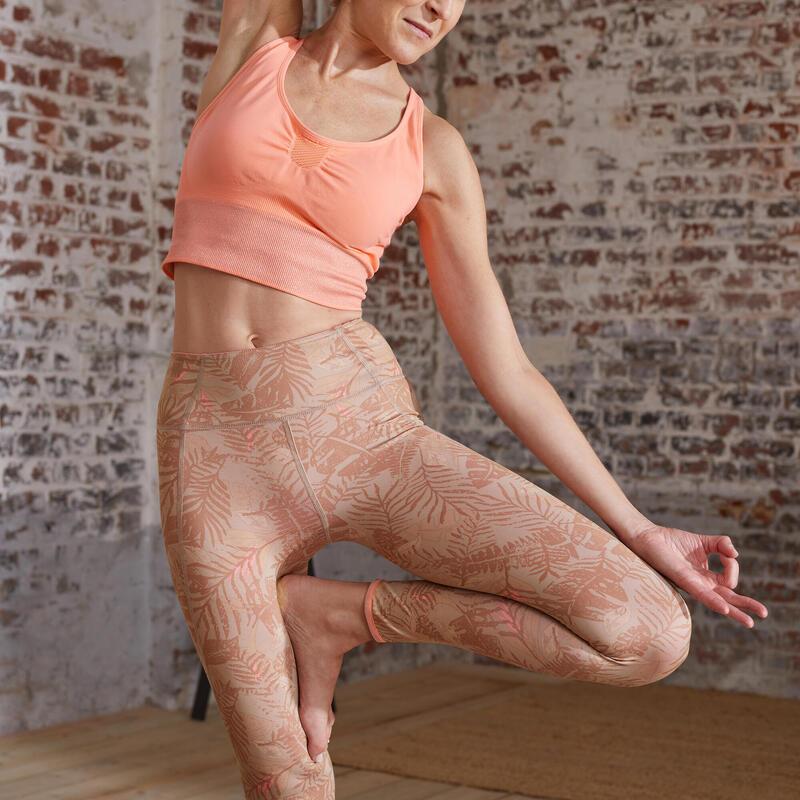 EDICIÓN LIMITADA Leggings Mallas mujer reversibles Yoga coral beige