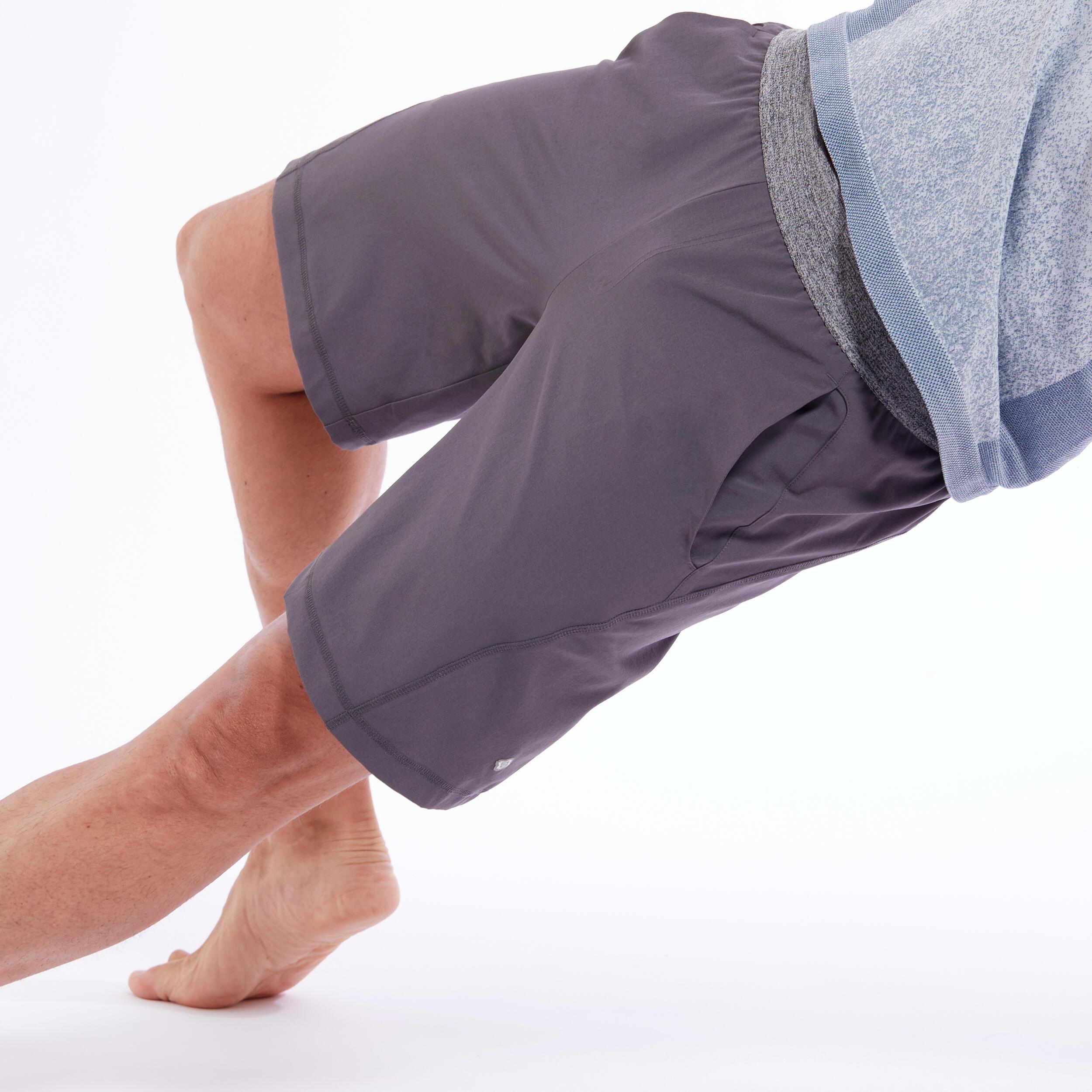 Șort Yoga gri bărbați la Reducere poza