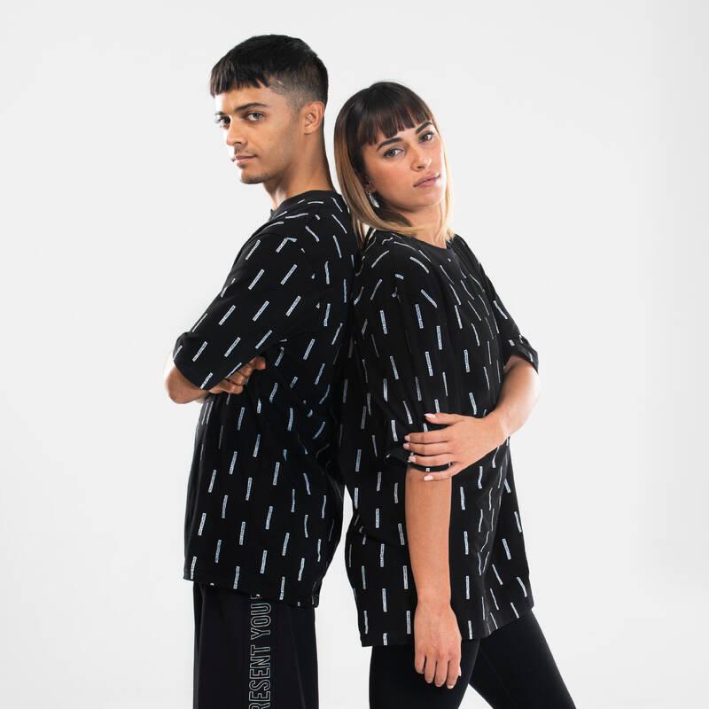 DÁMSKÉ OBLEČENÍ NA URBAN DANCE A HIP HOP Moderní tanec - TRIČKO NA STREET DANCE ČERNÉ DOMYOS - Moderní tanec