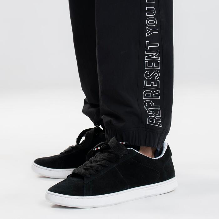 Chaussures de danses urbaines en cuir noir T36 - T46
