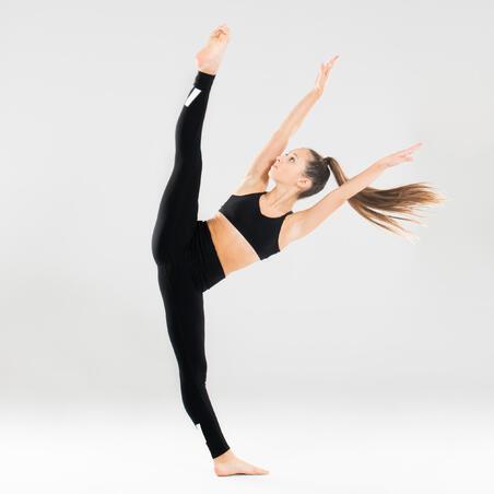 Brassière de danse moderne à bretelles croisées noire – Filles