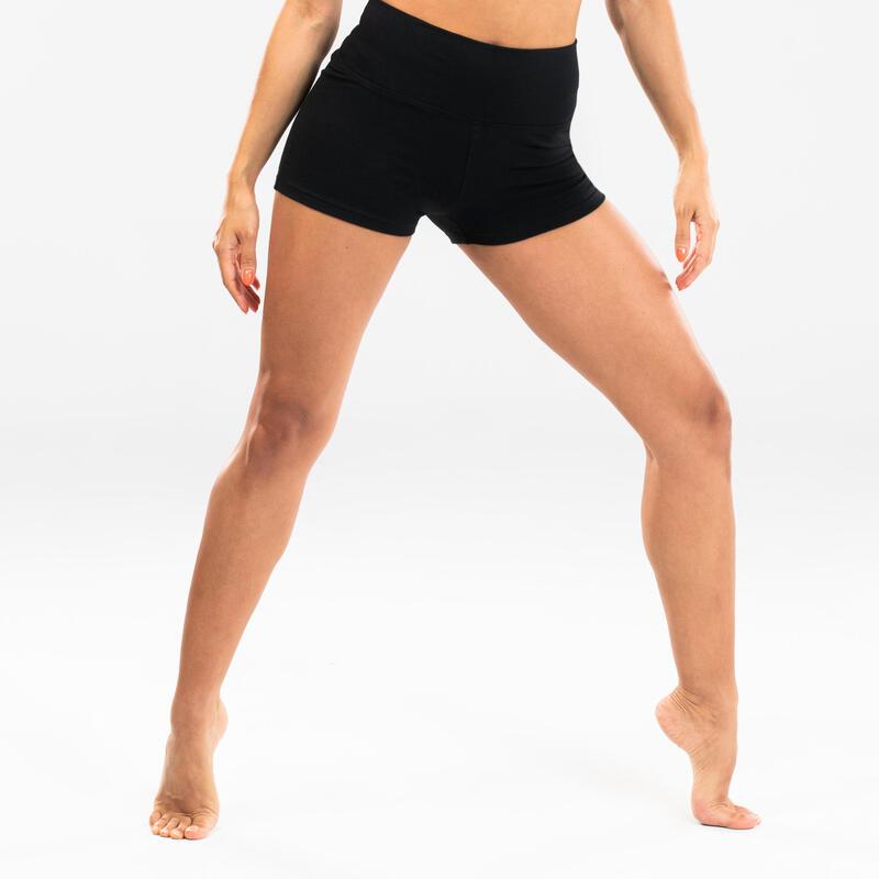 Short de danse moderne moulant noir femme
