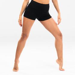 Calções Justos de Dança Moderna Mulher Preto