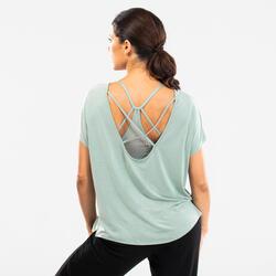 Tanz-Shirt Modern Dance fließend Damen mit Grafikprint hellgrün