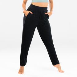 Pantaloni donna taglio carota danza moderna neri