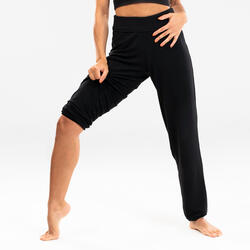 Soepele broek voor moderne dans dames zwart