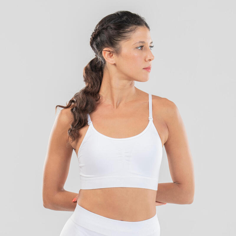 Women's Seamless Modern Dance Sports Bra - White