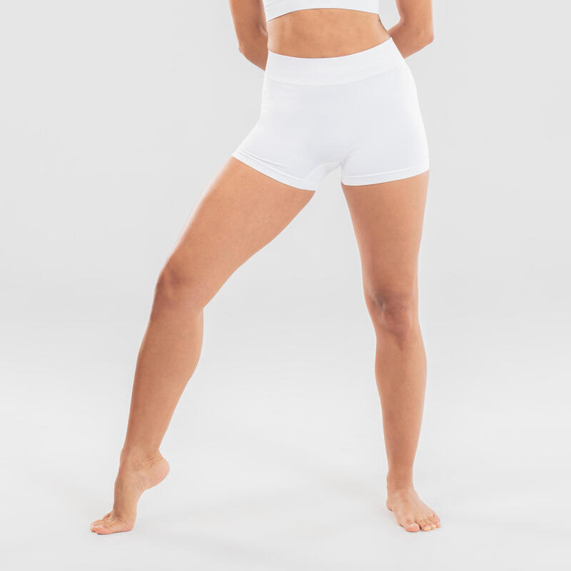 Short de danse moderne sans couture blanc femme