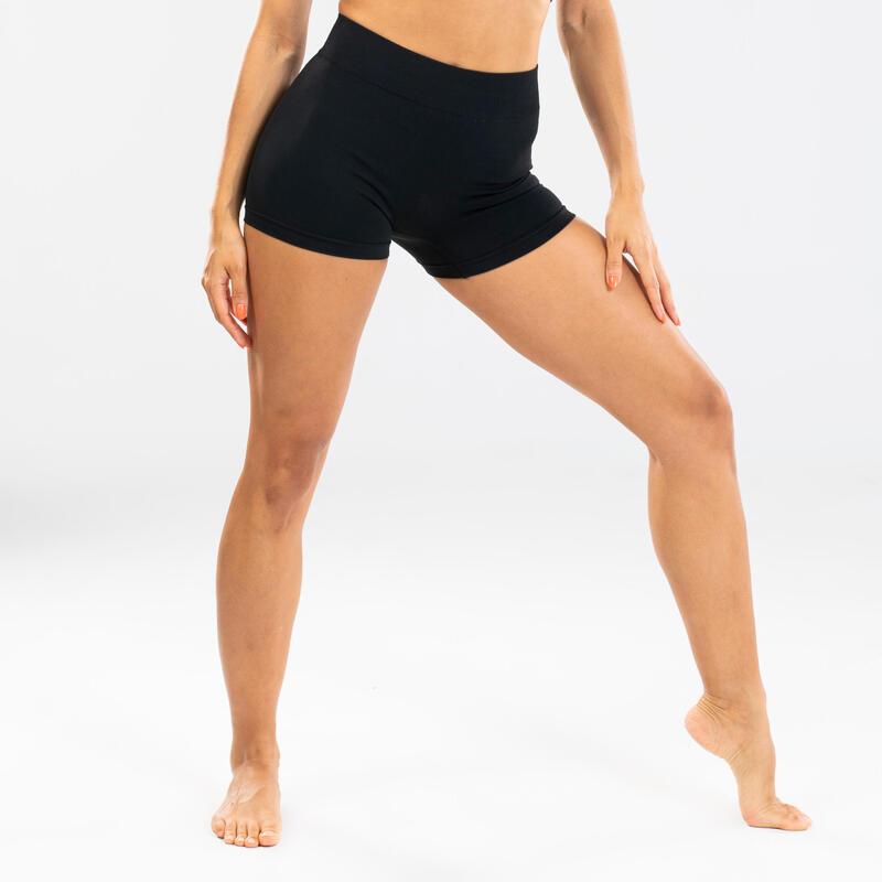 Short de danse moderne sans couture noir femme