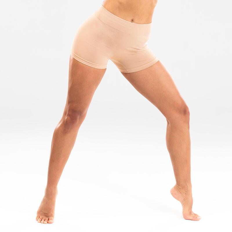 Women's Seamless Modern Dance Shorts - Beige
