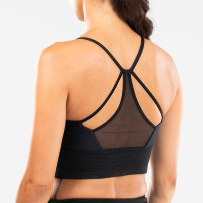 Women's Modern Dance Bra - Black