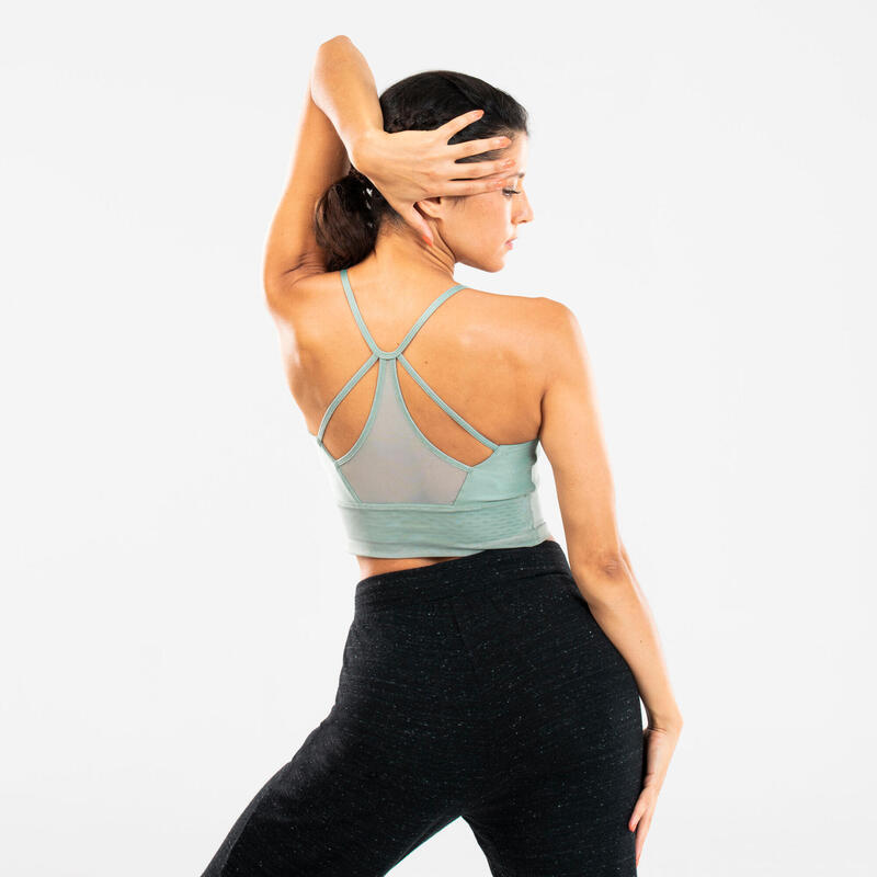Women's Modern Dance Sports Bra - Light Green