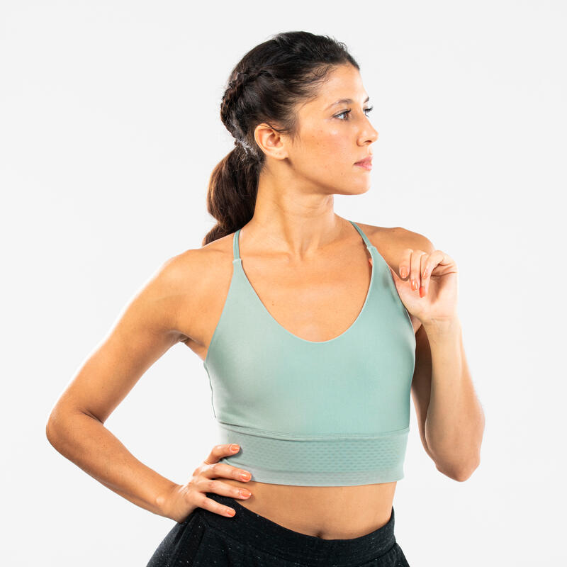 Women's Modern Dance Sports Bra - Light Green