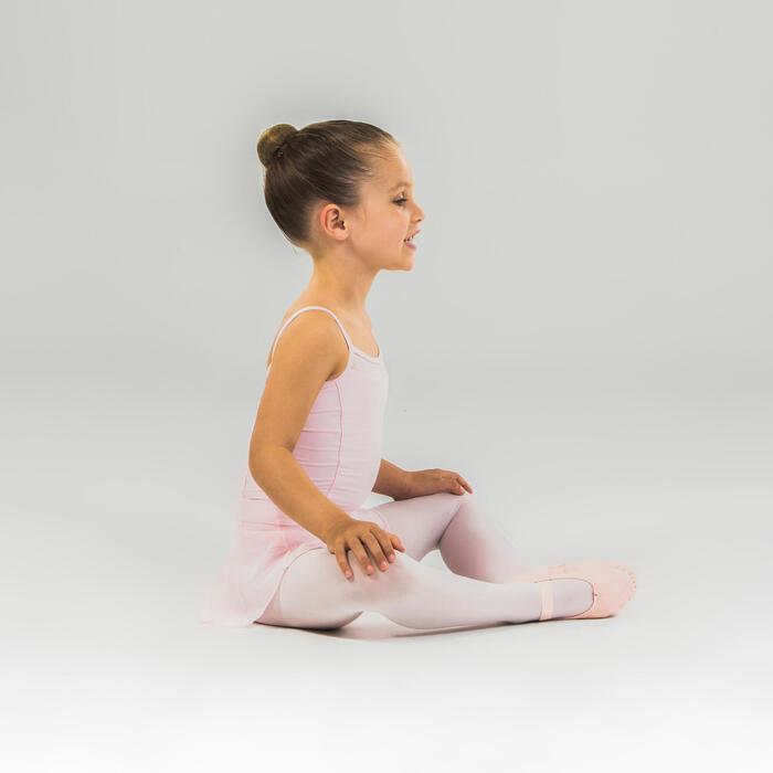 Tanzbody Ballett mit schmalen Trägern Mädchen rosa