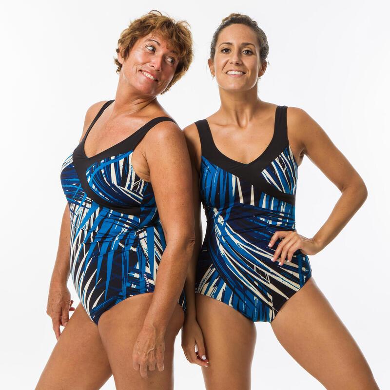 Bañador Efecto Vientre Plano Moldeador Aquagym Mujer Nabaiji Karli Azul