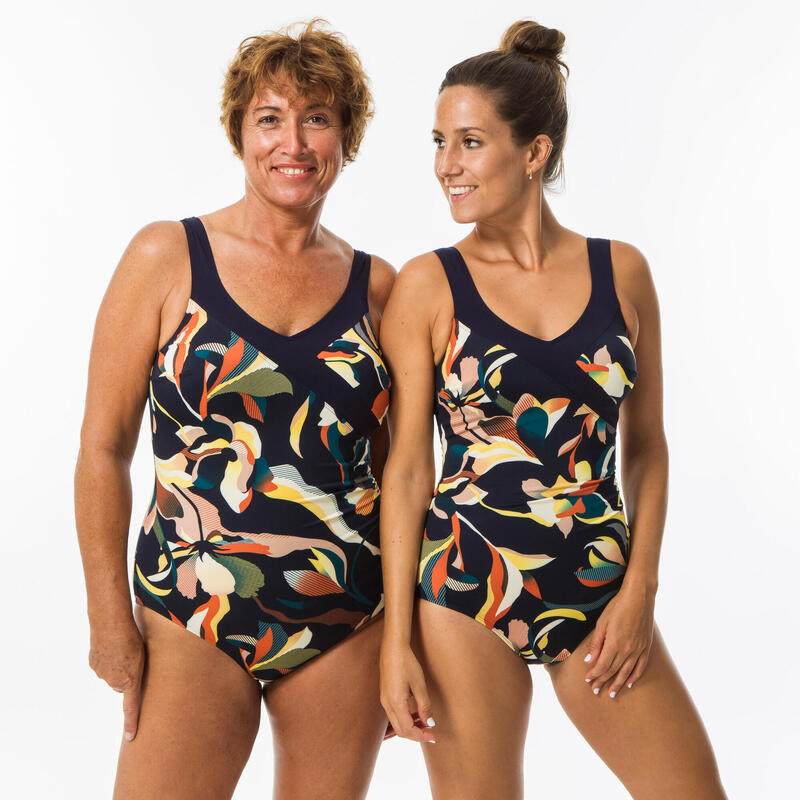 Bañador Efecto Vientre Plano Moldeador Aquagym Mujer Nabaiji Karli Naranja