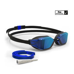 Zwembril 900 B-fast blauw spiegelglazen