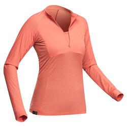 T-Shirt montagna donna TROPIC900 corallo