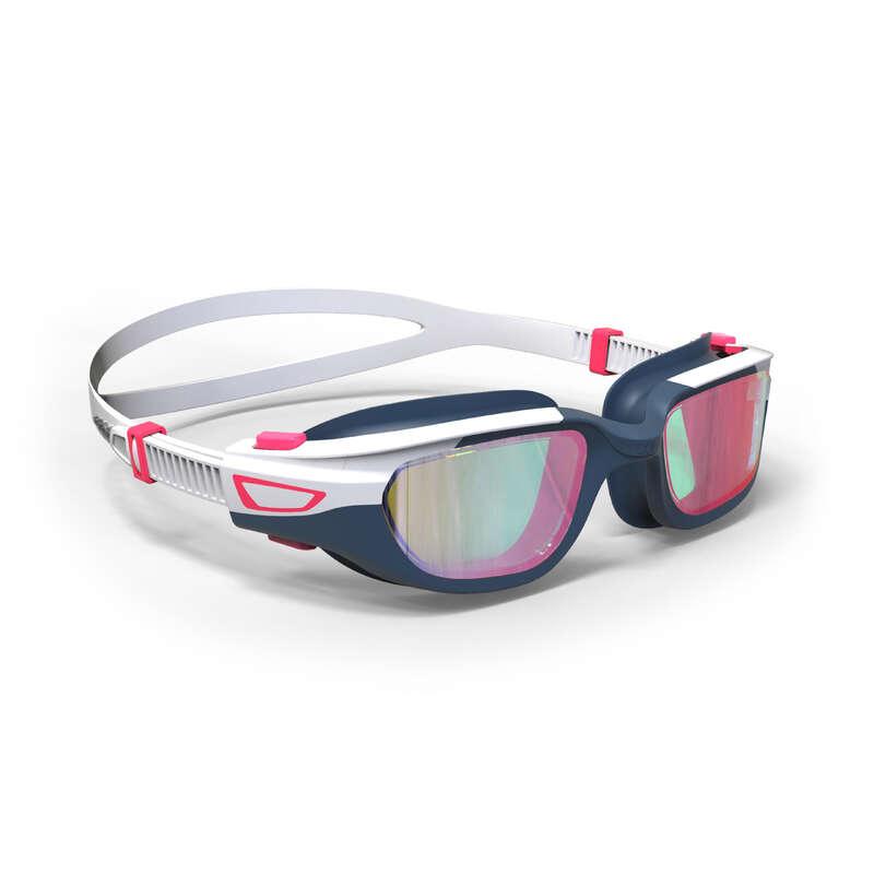 GLASÖGON ELLER MASKER FÖR SIMNING Triathlon - Glasögon SPIRIT S vit rosa NABAIJI - Triathlonutrustning