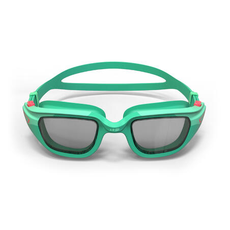 KIDS' SWIMMING GOGGLES SPIRIT CLEAR LENSES - GREEN / PINK