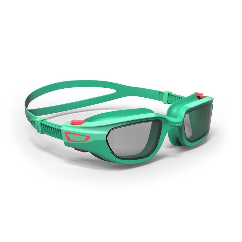 """Vaikiški plaukimo akiniai skaidriais stiklais """"Spirit"""", žalios, rožinės spalvos"""