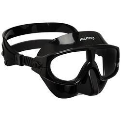 Vrijduikmasker Apnea 100 zwart voor vrijduiken en zwemmen in de zee