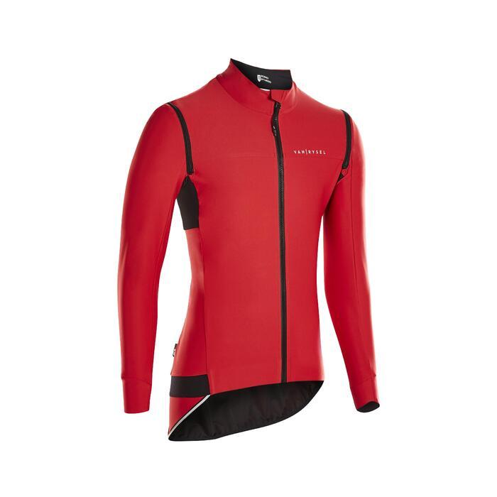 Veste Vélo Route RACER convertible rouge