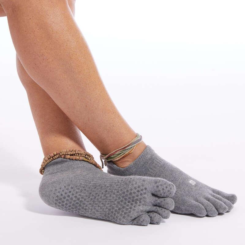 OPREMA ZA JOGU Fitness - Protuklizne čarape za jogu KIMJALY - Čarape i grijači za fitness