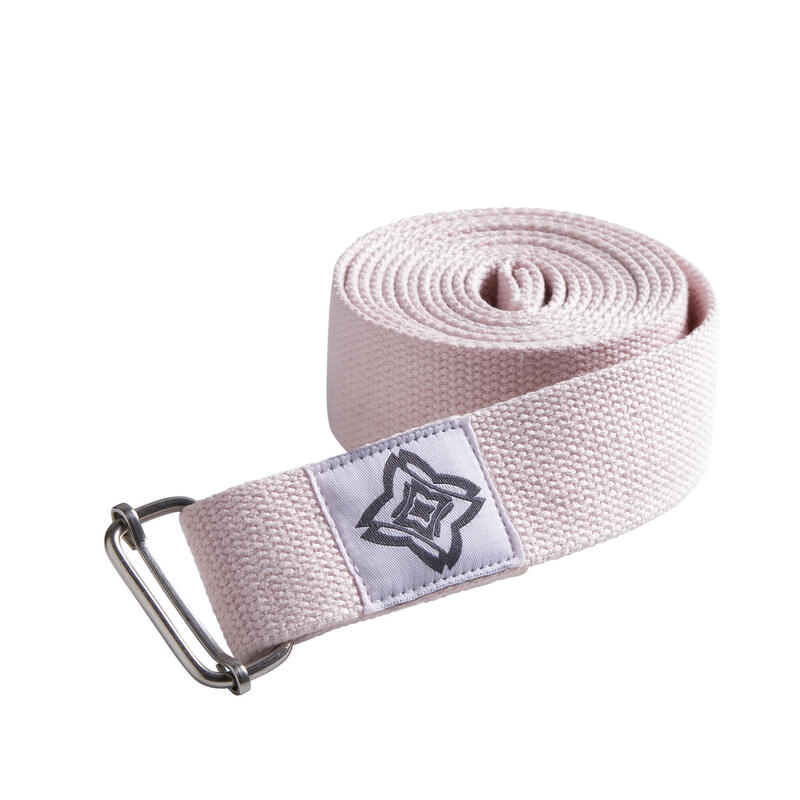 Cinghia yoga cotone bio rosa