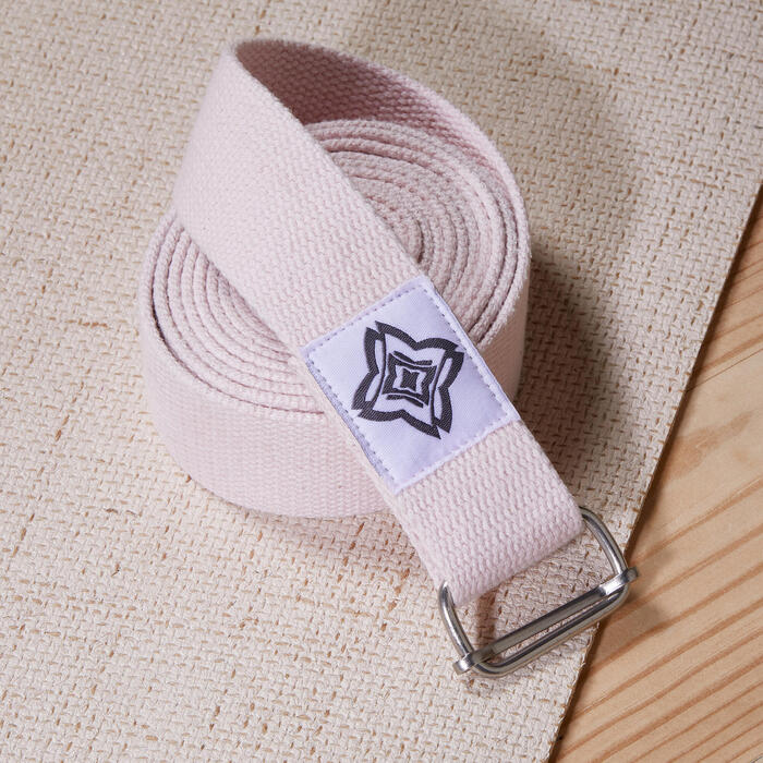 Organic Cotton Yoga Strap - Pink