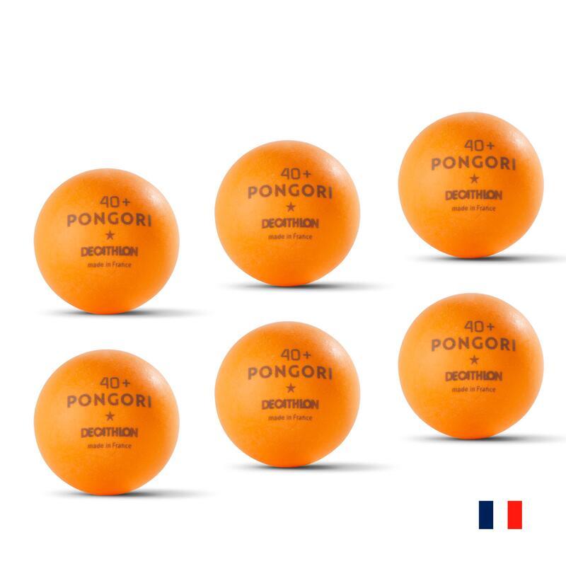 BALLES DE TENNIS DE TABLE TTB 100 1* 40+ x6 ORANGE (fabriquée en France)
