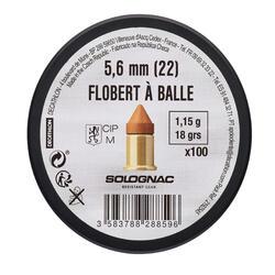 BALLE BOSQUETTE 22 FLOBERT X100 Q