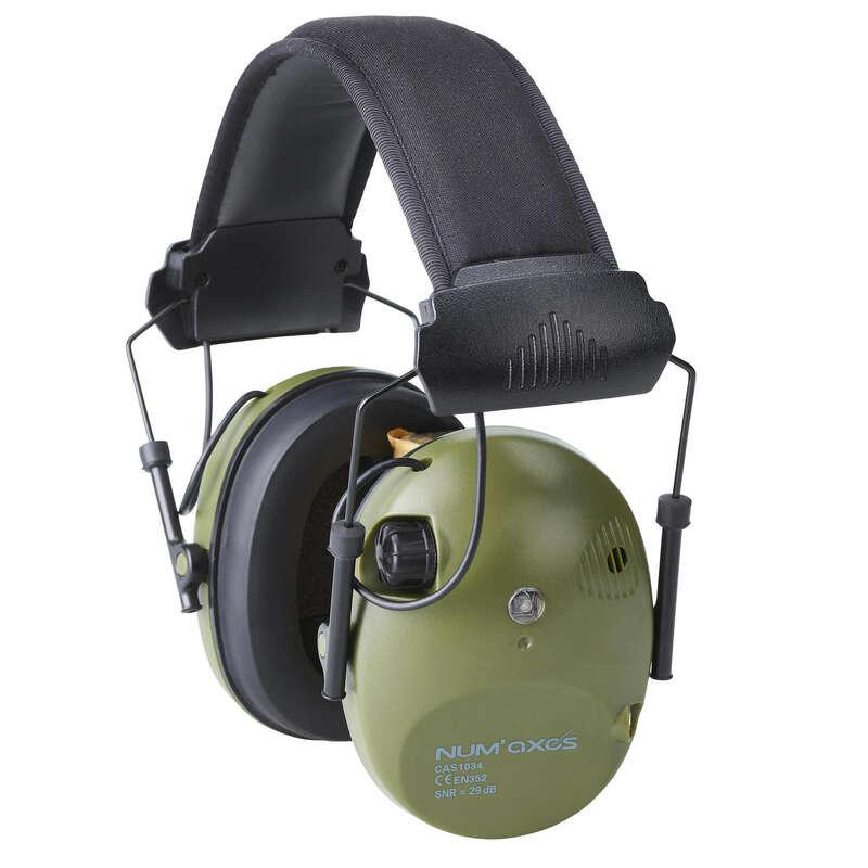 HALLÁS- ÉS LÁTÁSVÉDELEM Vadászat, Sportlövészet - Elektromos fülvédő CAS1034  NUM'AXES FRANCE - Sportlövészet