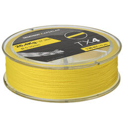 Gevlochten lijn voor kunstaasvissen TX4 geel 130m