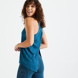 女款有氧訓練訓練背心- 靛藍色