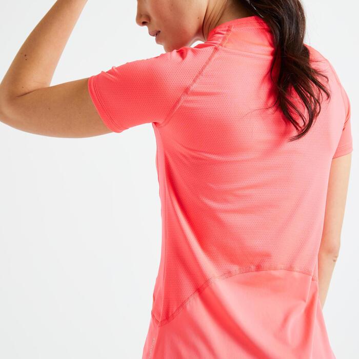 T-shirt fitness cardio training femme rose 521