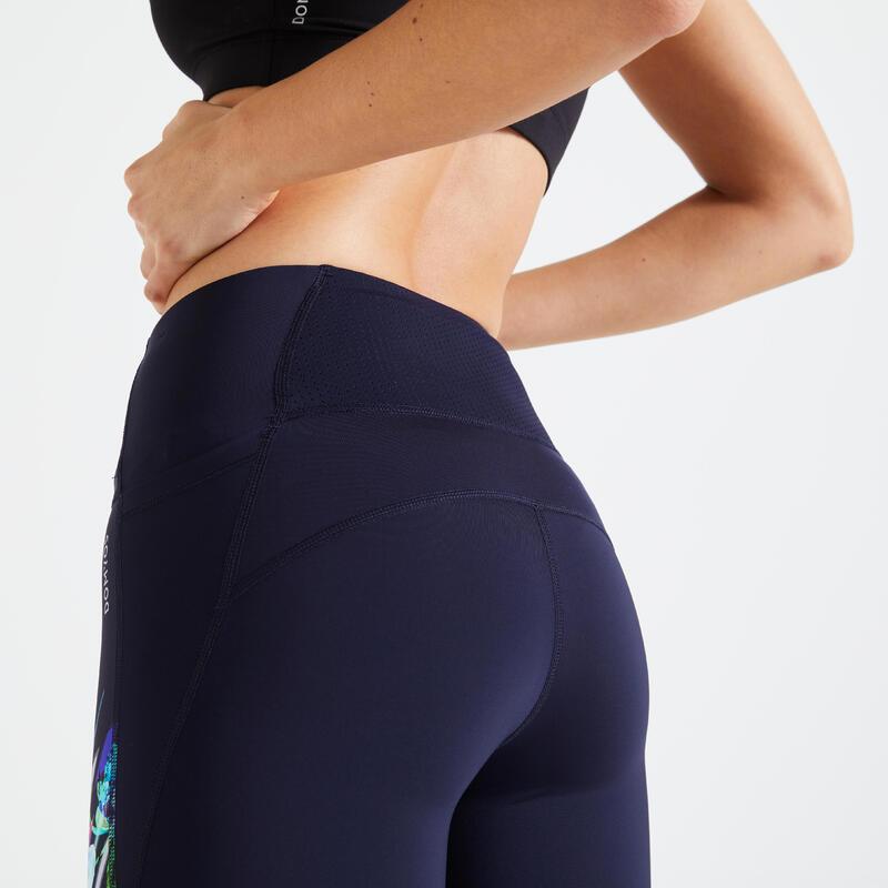Fitness High-Waisted Shaping Leggings - Navy Blue