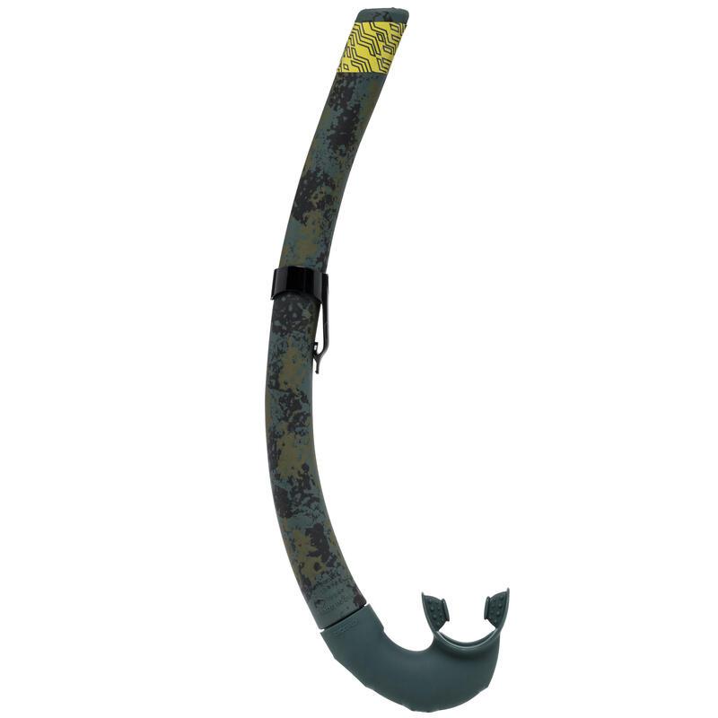 Sualtı Avcılığı ve Serbest Dalış Şnorkeli - Kamuflaj Desenli - SPF 500