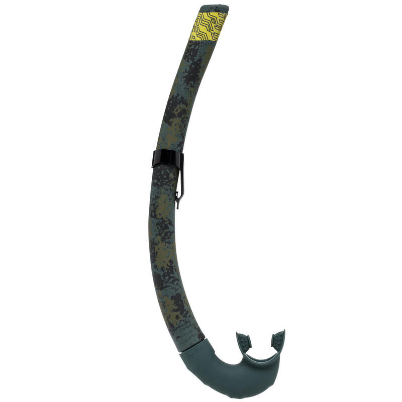 Tuba chasse sous-marine en apnée souple camouflage SPF 500
