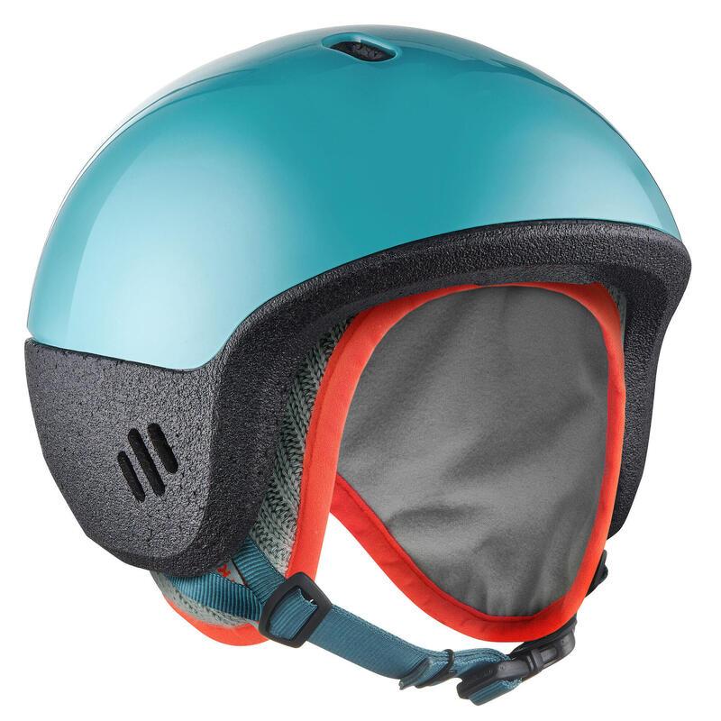 Casque ski enfant de 12 à 36 mois ( XXS : 44 - 49 cm ) 2 en 1 turquoise