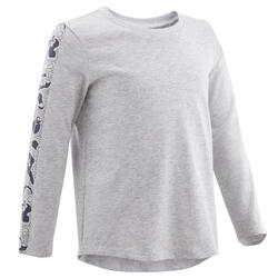 Camisola de Ginástica para Bebés Menina e Rapaz 100 Cinzento/Azul