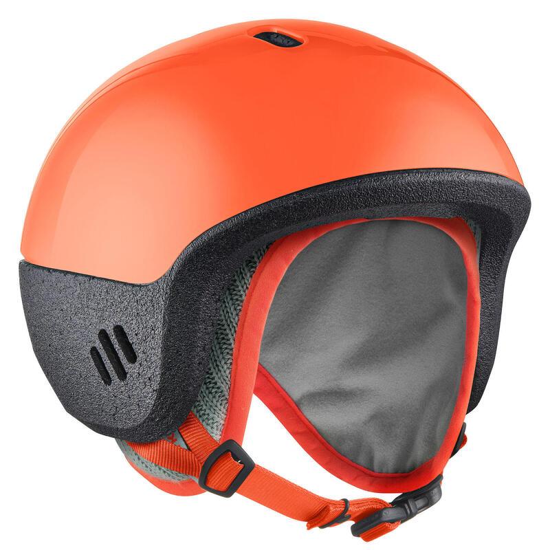 Casque ski enfant de 12 à 36 mois ( XXS : 44 - 49 cm ) 2 en 1 orange