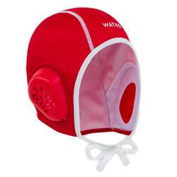Waterpolocap voor volwassenen 900 rood
