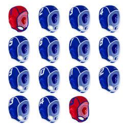 Conjunto de 15 toucas de polo aquático criança easyplay azul