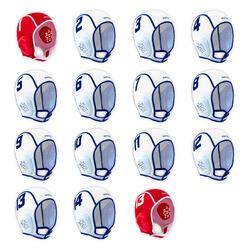 Conjunto de 15 toucas de polo aquático criança easyplay branco